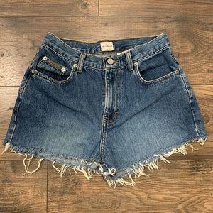 Vintage Calvin Klein Cut Off Denim Shorts Size 4